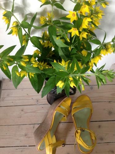 Fredløs og gule sandaler